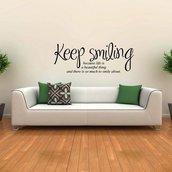 Adesivo per le pareti - Keep smiling (3451n)