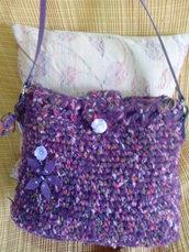 Borsa tracolla fatta mano in lana