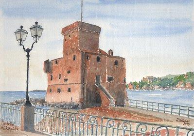 Stampa Acquerello: Castello di Rapallo