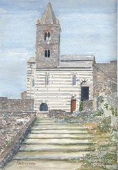 Stampa Acquerello: San Pietro di Portovenere
