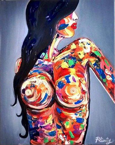 """Quadro moderno, Nudo di donna astratto """"Woman"""""""