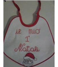 bavaglino neonato natalizio