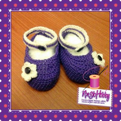 Scarpine bebè in lana