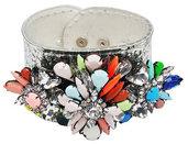 Bracciale glitter e pietre colorate