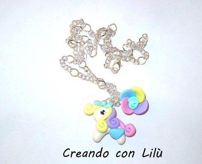 collana ciondolo in fimo little pony rainbow