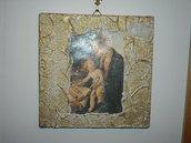 quadro tipo affresco con Madonna con Bambino