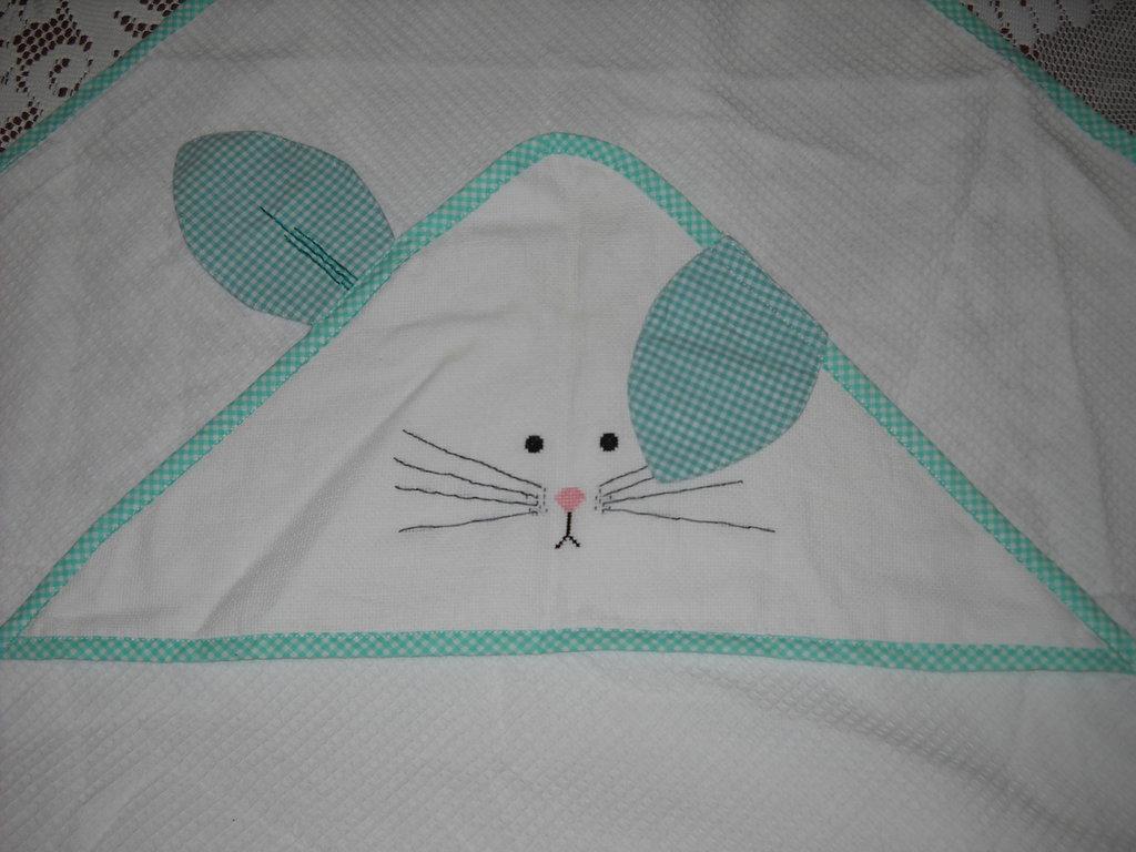 accappatoio coniglietto bimbi