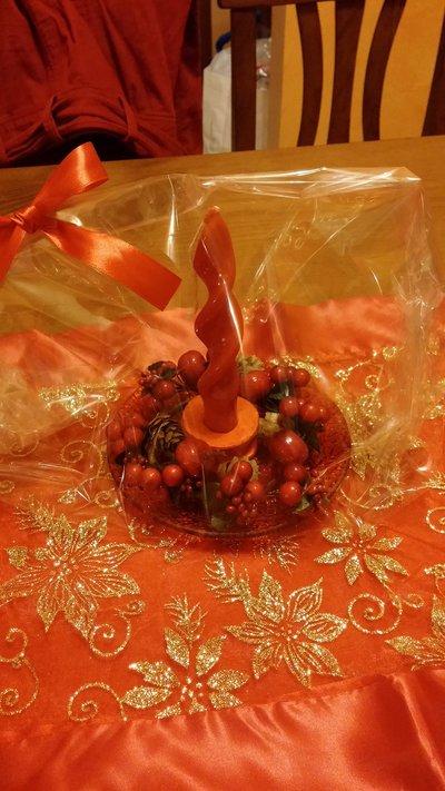 Porta candele natalizio