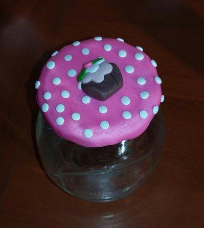 barattolo fimo pois e cupcake