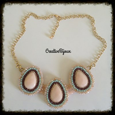 Collana  rosa perline