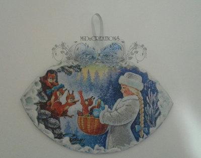 Targhetta,,Nipote di Babbo Natale,, dipinta a mano