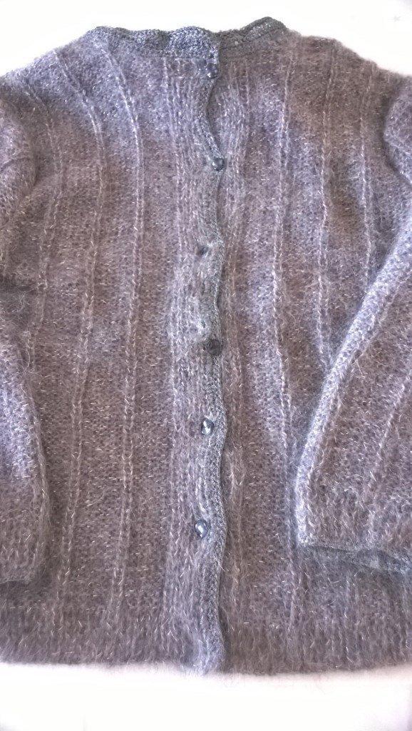 Elegante Cardigan, giacca in lana mohair glamour
