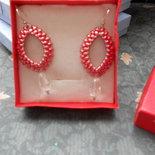 orecchini barchetta rossi