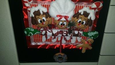 copriforno natalizio con ginger