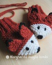 """Muffole """"volpina"""" in pura lana e alpaca fatte a mano - idea regalo!"""