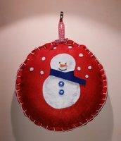 Fuoriporta pupazzo di neve in pannolenci