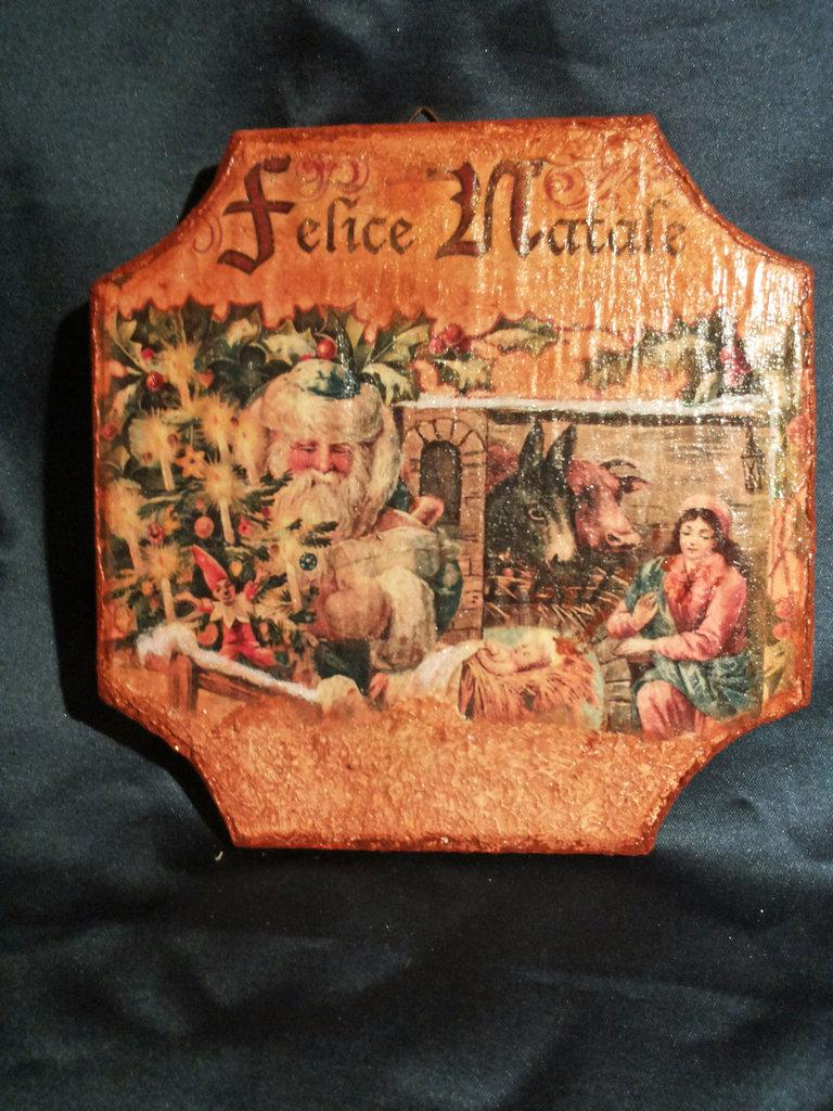 """Quadro in legno """"Felice Natale"""""""