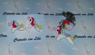 completo collana little pony +orecchini