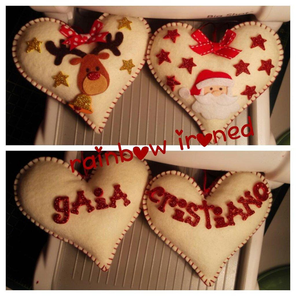 decorazioni natalizie a cuore