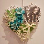 cuore fuoriporta verde e turchese
