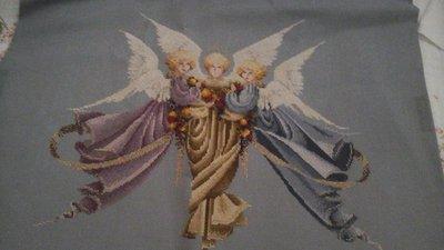 """Ricamo artigianale """" Angeli del Natale """""""