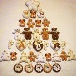 Il Natale in pannolenci: set 10 pezzi