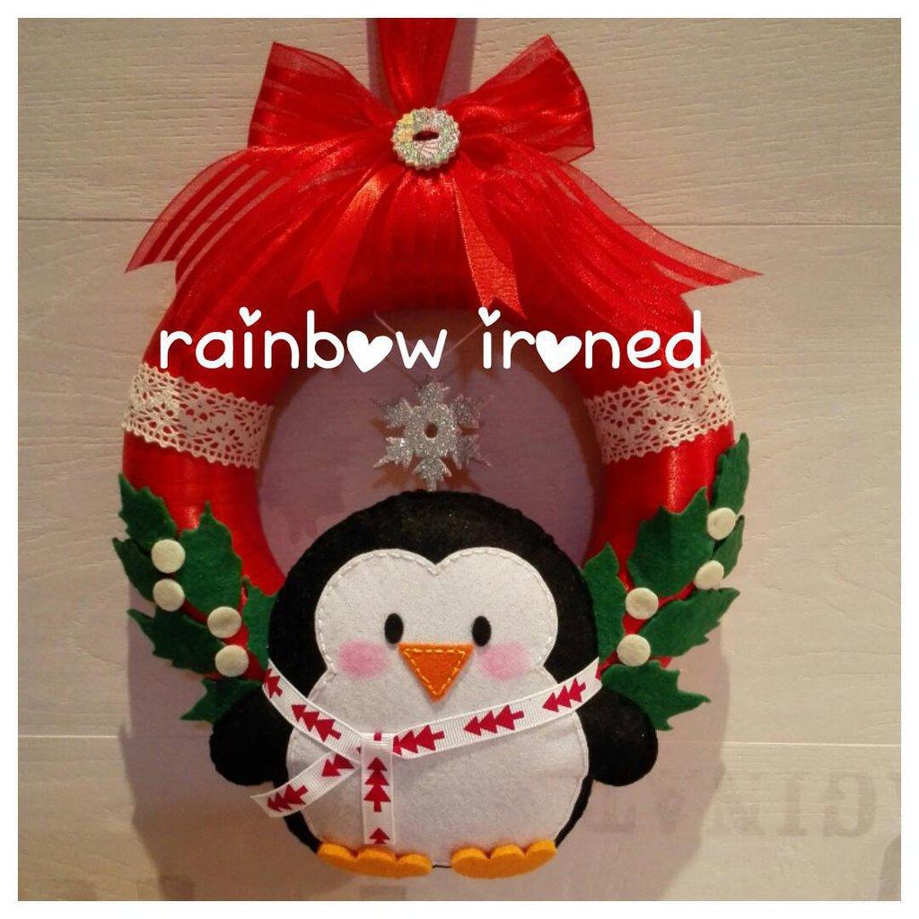 ghirlanda natalizia pinguino