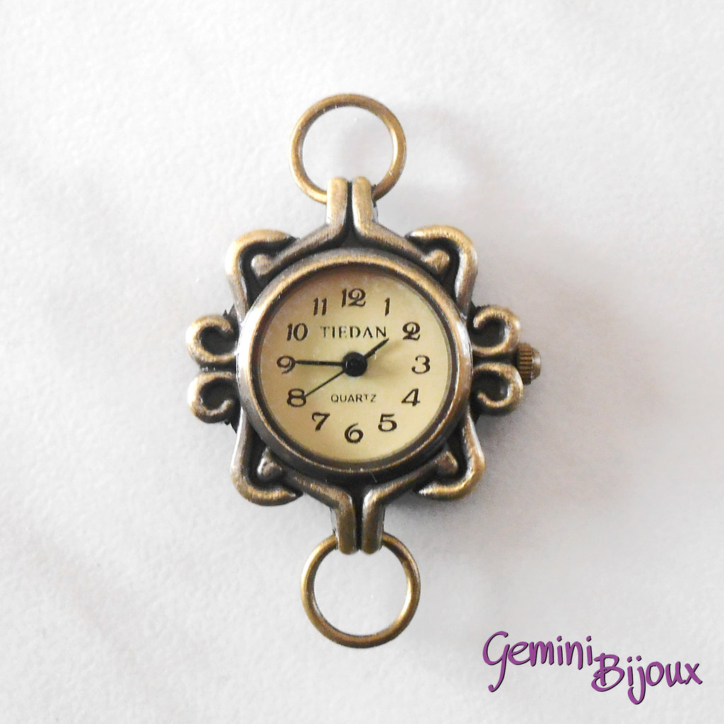 Base per orologio tondo antique bronze Watch2