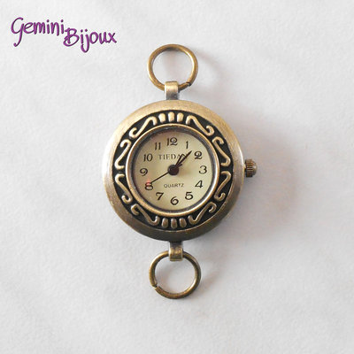 Base per orologio tondo antique bronze Watch3
