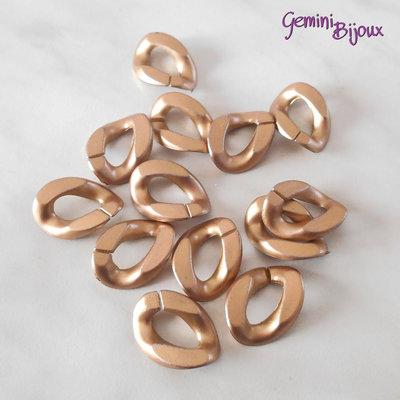 Link anello ovale in acrilico 23x18x5mm gold