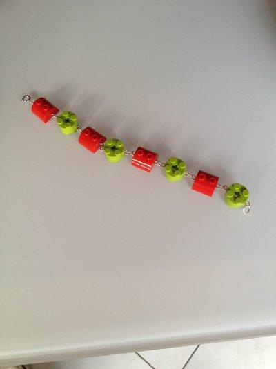"""Bracciale con mattoncini """"Lego"""""""