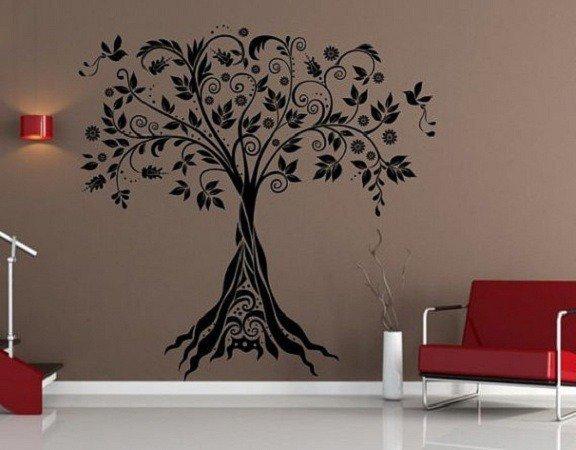 Adesivo per le pareti Albero ornamentale (2655n)