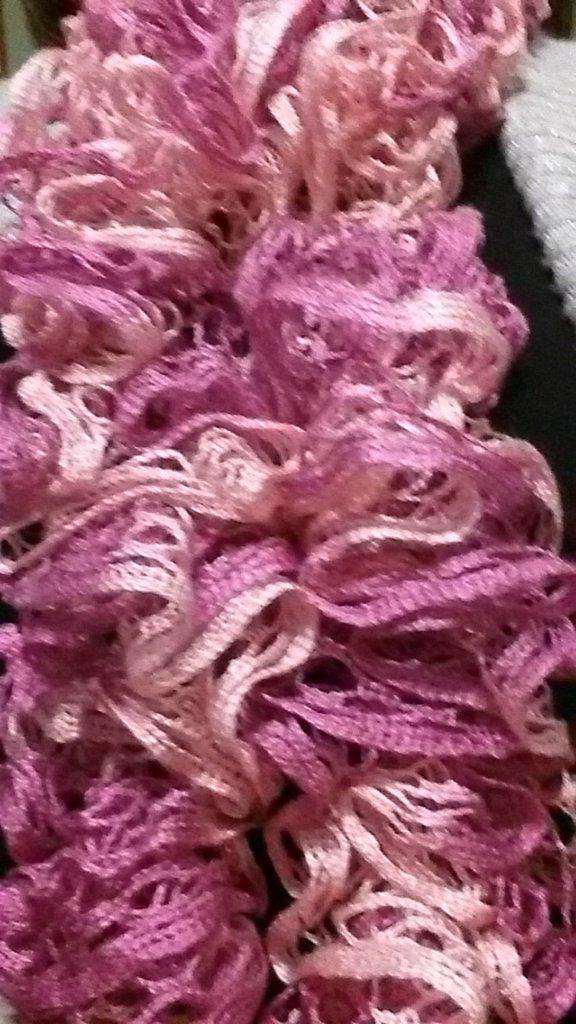 Sciarpa  con lana a rete