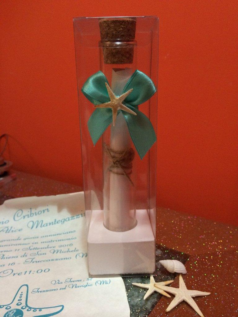 Partecipazioni Matrimonio In Bottiglia Prezzo.Partecipazione Mare In Provetta Di Vetro Feste Matrimonio Di