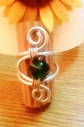 anello wire con perla