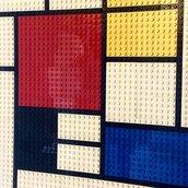 """Quadro Mondrian realizzato con mattoncini """"lego"""""""