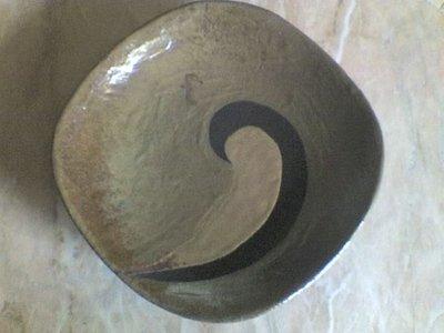 piatto semispirale raku