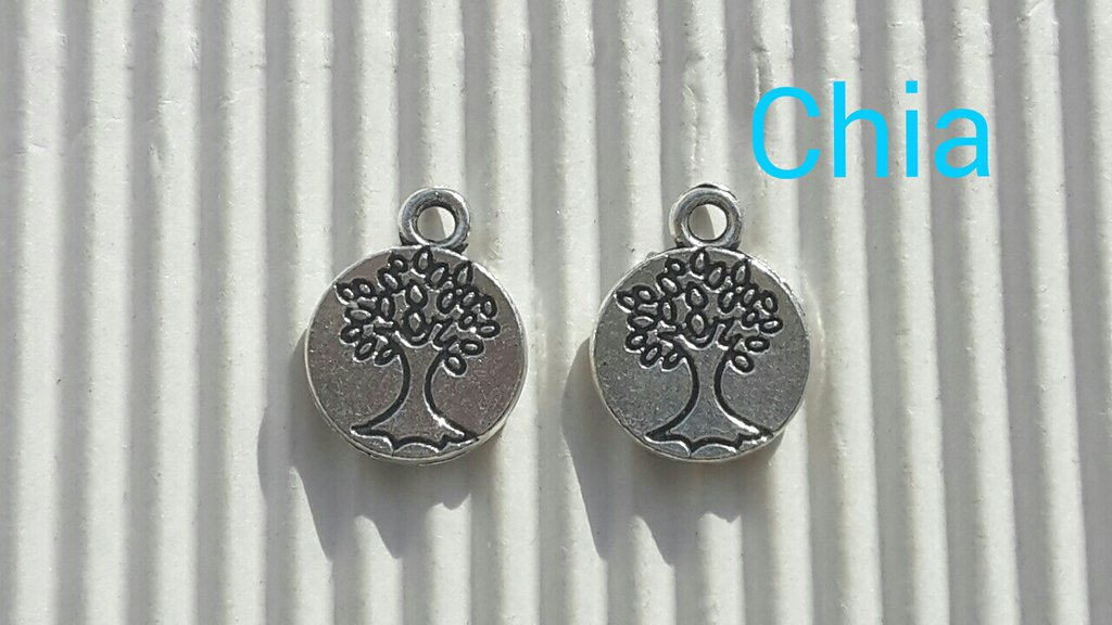 5 charms medaglietta con alberello