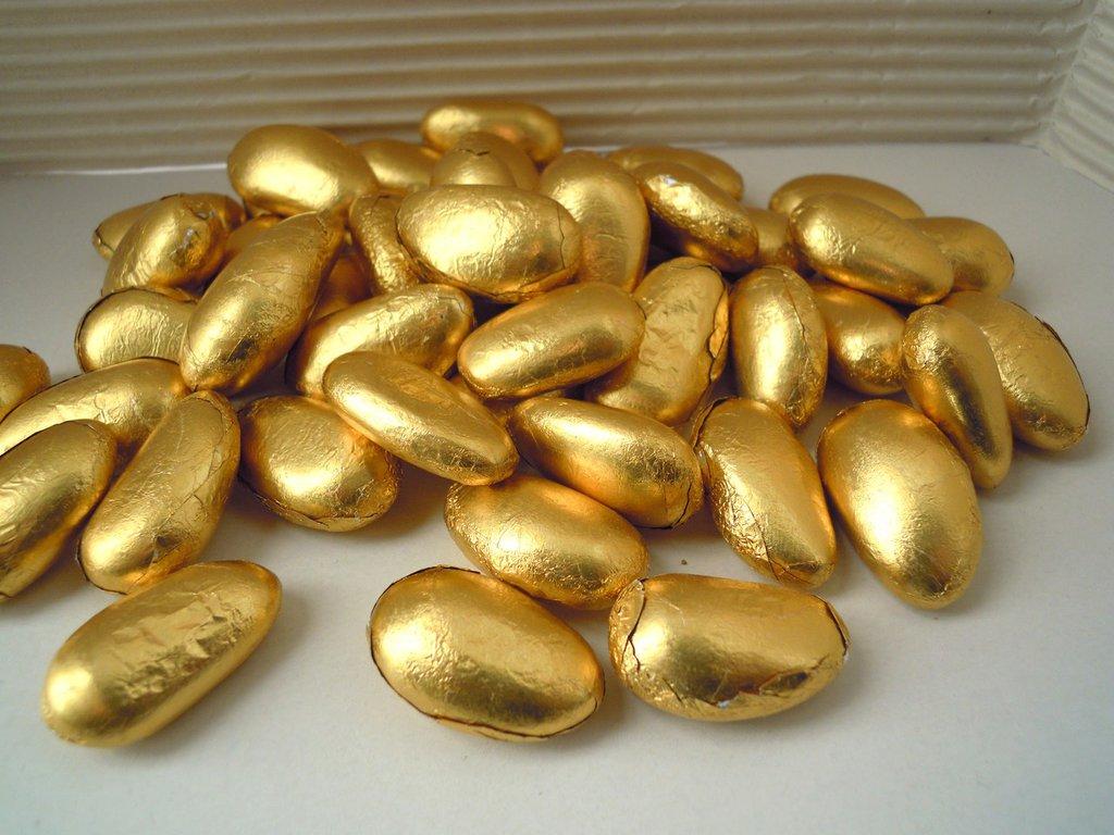 Confetti di Avola oro incartati
