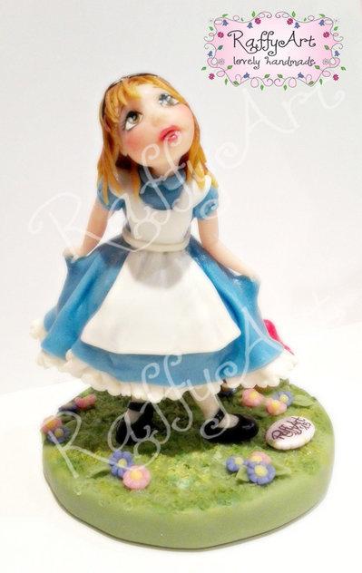 """Cake topper compleanno/festa bambini """"Tu come Alice"""" (personalizzabile)"""