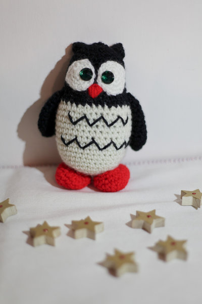 GUFO amigurumi in misto lana
