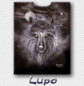 T-shirt  Aerografata Lupo