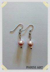 Orecchini orecchini pendenti fatti a mano con perle