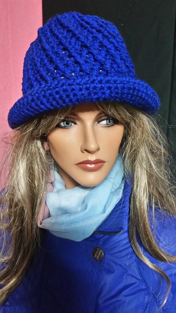 cappello donna ,colore blu