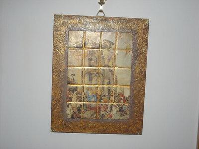 Quadro tipo mosaico con presepe di San Martino 2