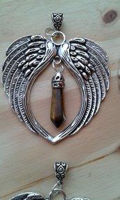 Collana ALI di ARCANGELO con pietra di OCCHIO DI TIGRE per il CORAGGIO, contro lo STRESS, dona ENERGIA FISICA.