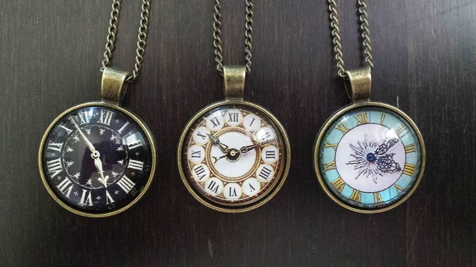 orologio collana
