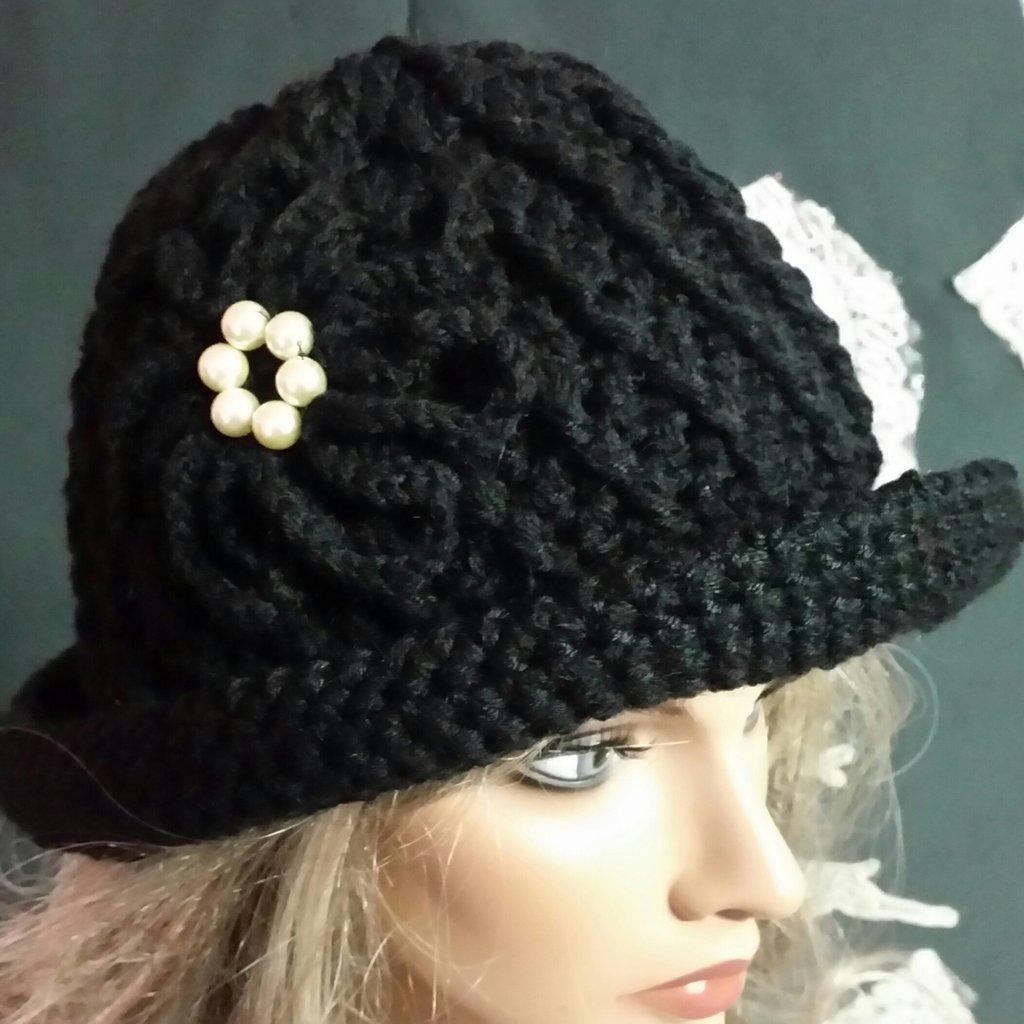 cappello donna ,colore nero