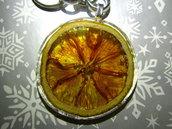 Portachiavi con mandarino essiccato