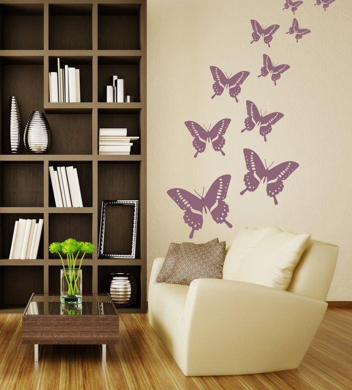 Adesivo per le pareti farfalle (046n)